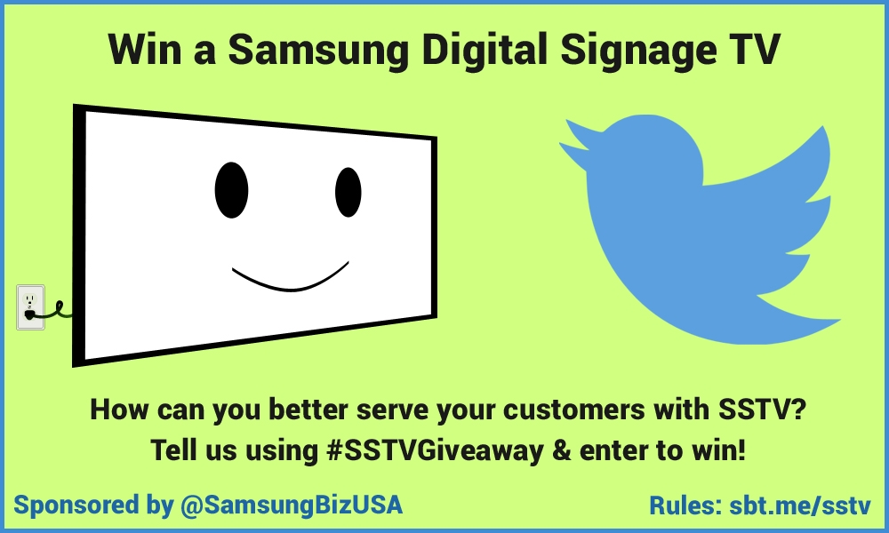 How can you better serve your customers with SSTV? Tell us using #SSTVGiveaway & enter to win!