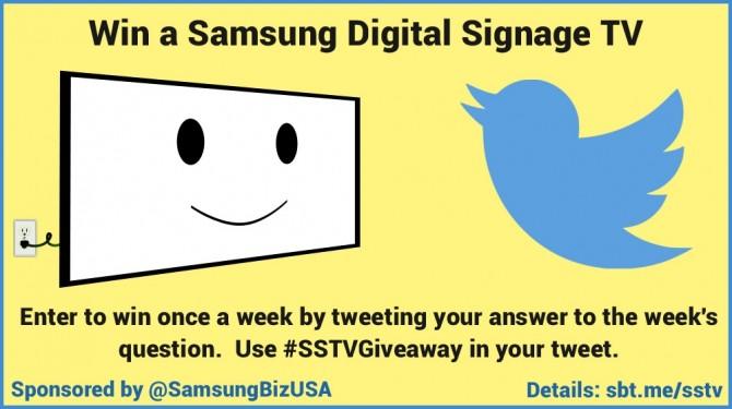 Samsung Digital Signage TV giveaway