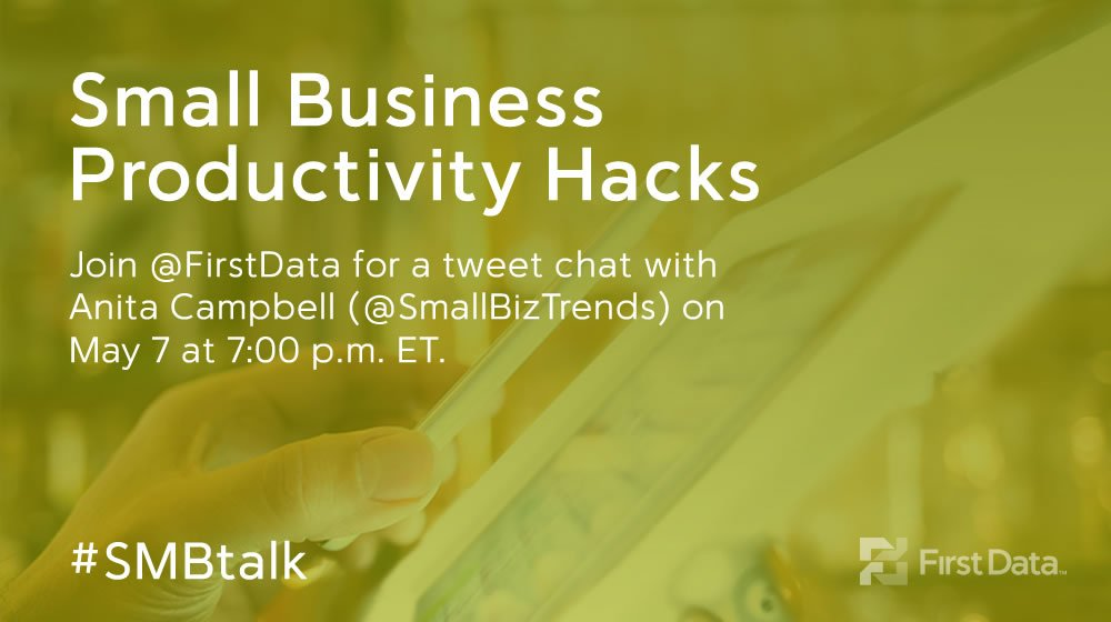 Come Chat With Us at #SMBTalk on Small Business Productivity Hacks!