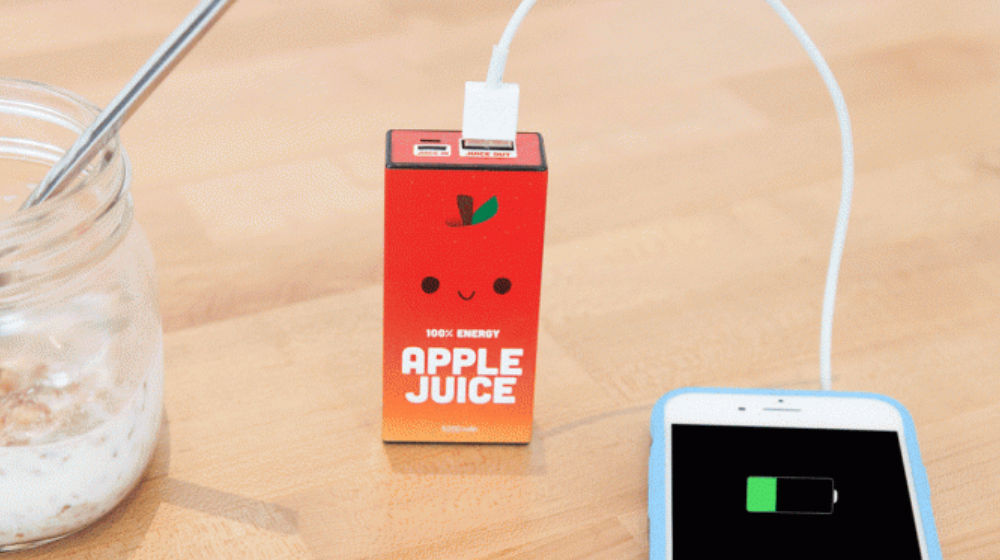 Juice Your Apple Devices With This Fun Juice Box Charger