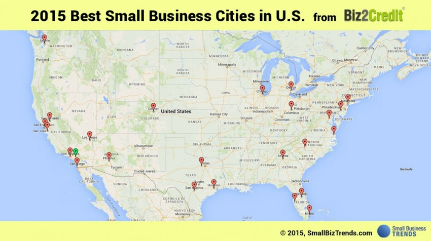 best cities for small business