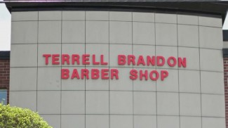brandon barber shop outside