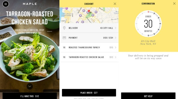 maple app food delivery app