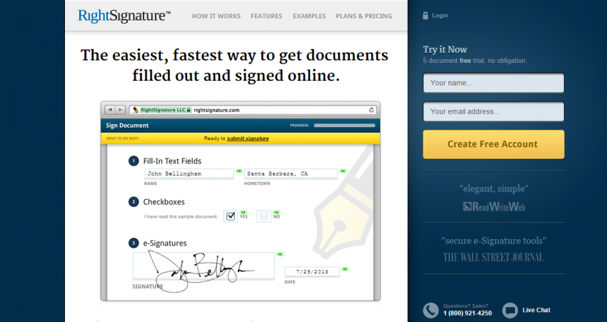 electronic signature sites services