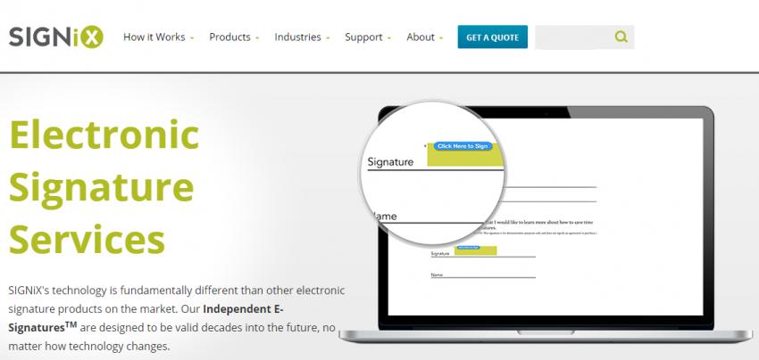 electronic signature sites services
