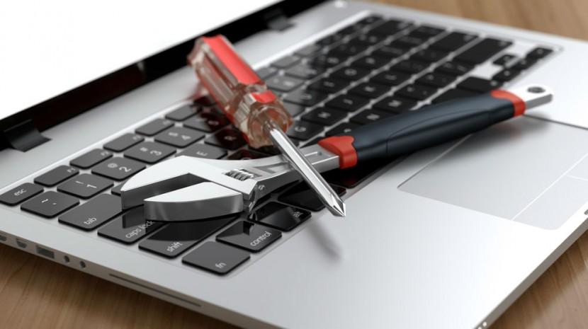 tools on keyboard