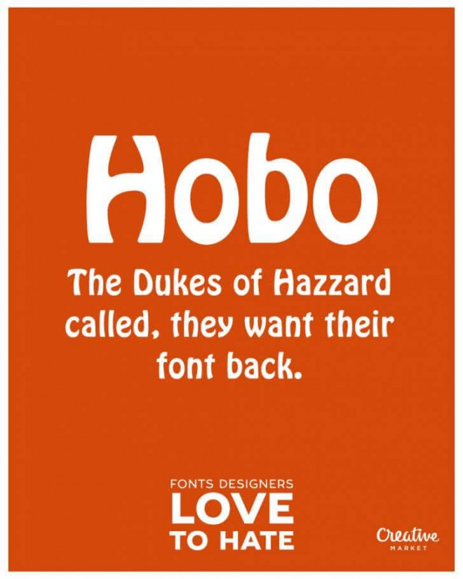 Ugliest Fonts in the world