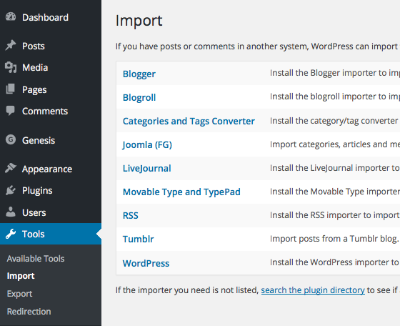 moving a site from joomla to wordpress