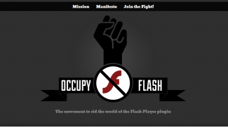Occupy_Flash_website