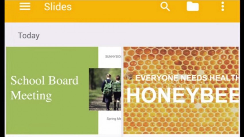 google slides on android