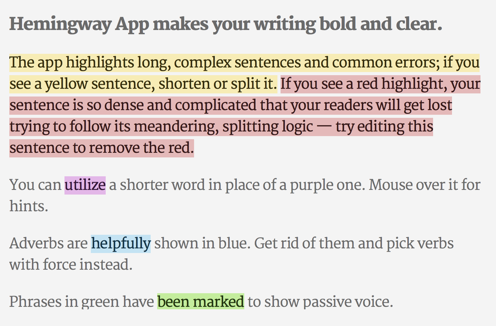Hemingway Editor is a neat tool that is like an English Teacher for your content