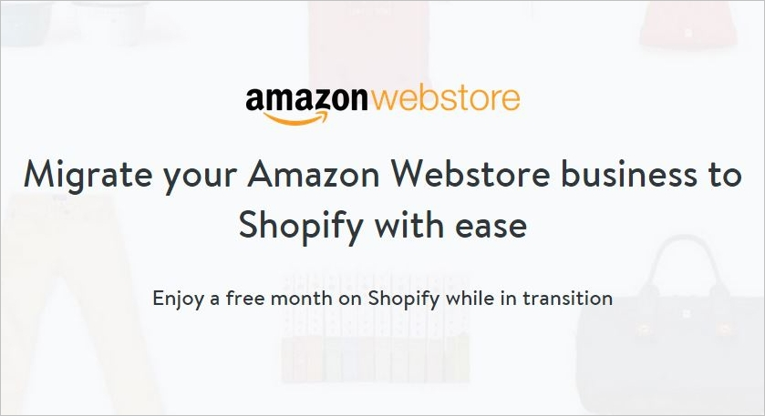amazon webstore migration to shopify