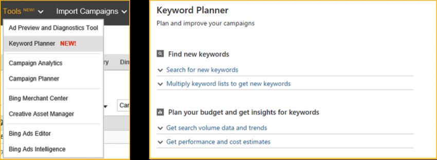Bing Keyword Tool