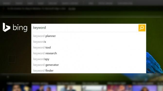 keyword planner bing