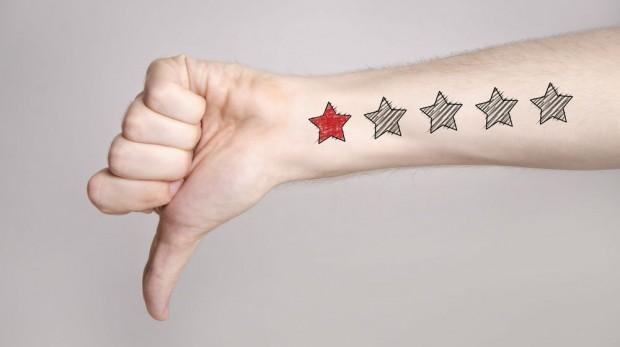 thumb down one star