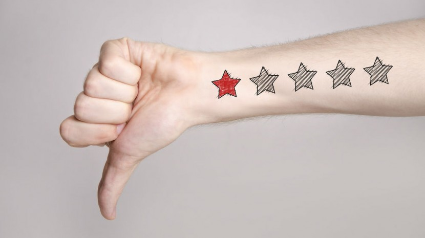 thumb down one star