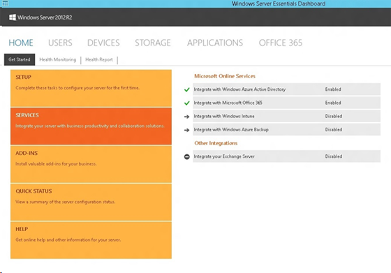 Windows Server Essentials Integration