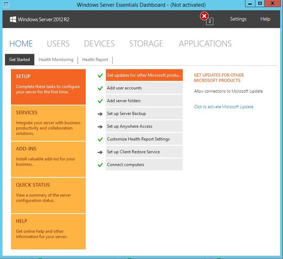 Windows Server Essentials Setup