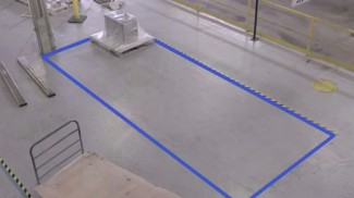taped floor