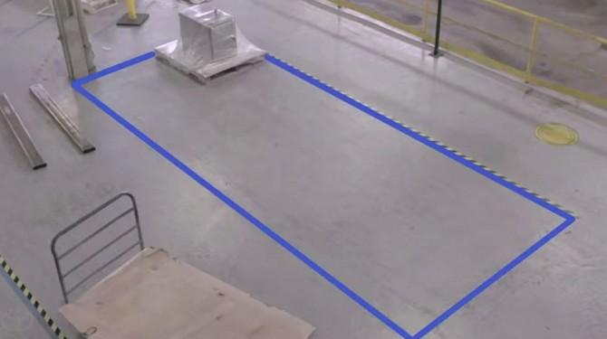 taped floor