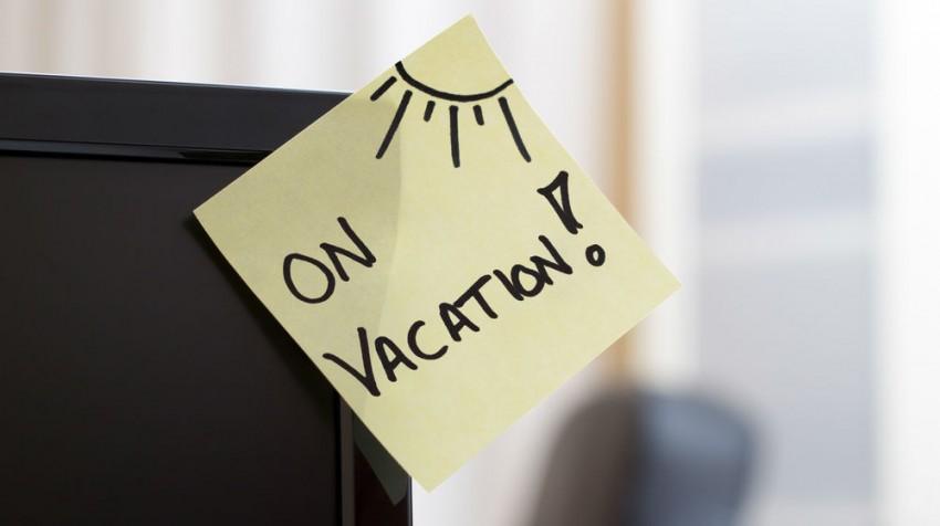 vacation post it