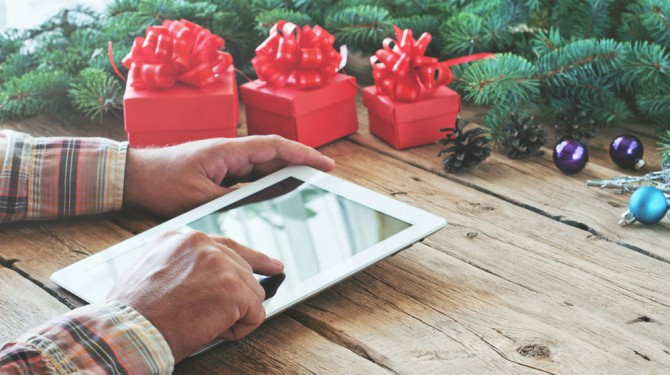 holiday shopper tablet