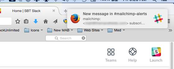 MailChimp Alert