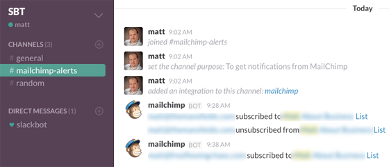 MailChimp Messages