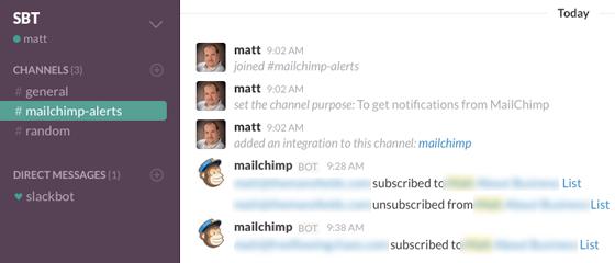 MailChimp Messages