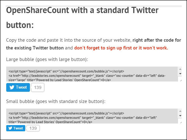 Twitter Share Counts Not Updating fix