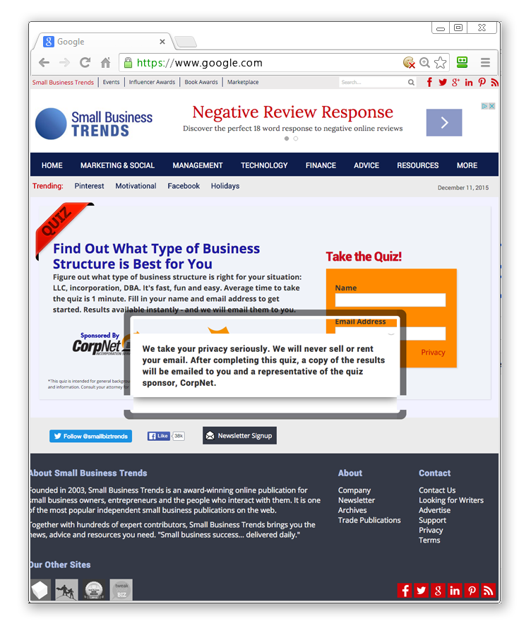 bug free Online Presence