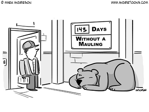 grin and bear it cartoon