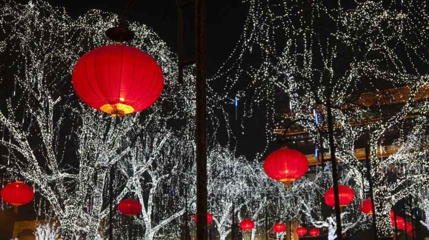 chinese lanterns christmas