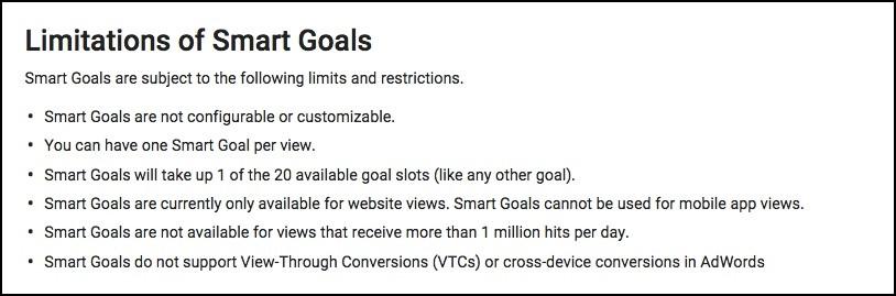 AdWords Smart Goals