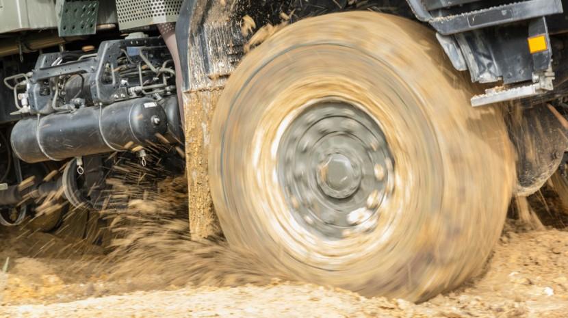 tire in mud