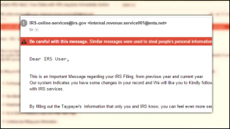 IRS email scam