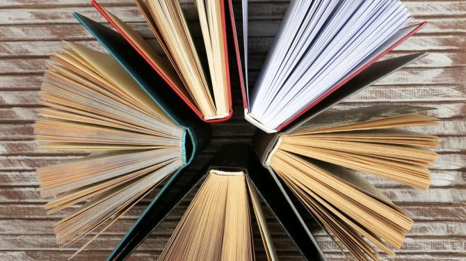 fanned books
