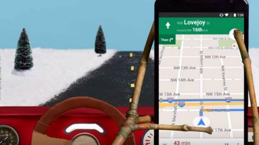 google maps driving mode