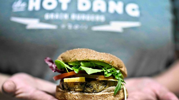 hot dang meatless veggie grain burger