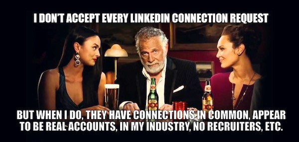 LinkedIn connection request message