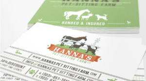 pet business card