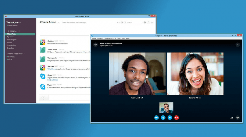 Slack Users Can Now Use Skype to Collaborate - Small