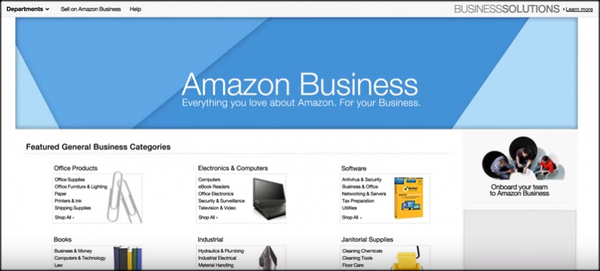 Amazon Business Tour - categories