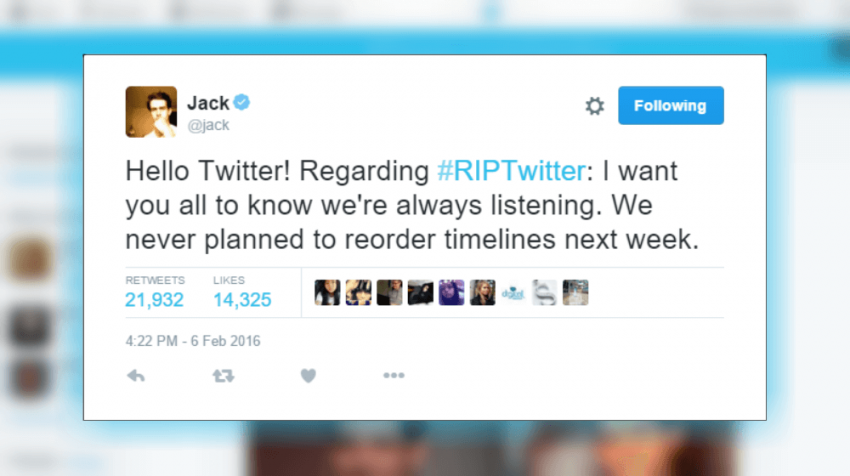 twitter denies timeline change periscope users given legal warning