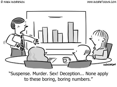 sales graph cartoon business