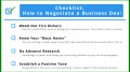 checklist for negotiating a business deal final
