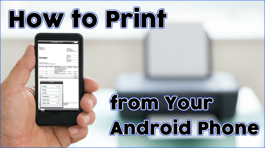 HOW TO PRINT FROM PHONE