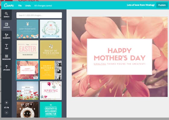 Canva on Viraltag