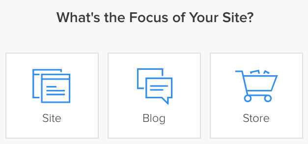 Choose the site's focus option