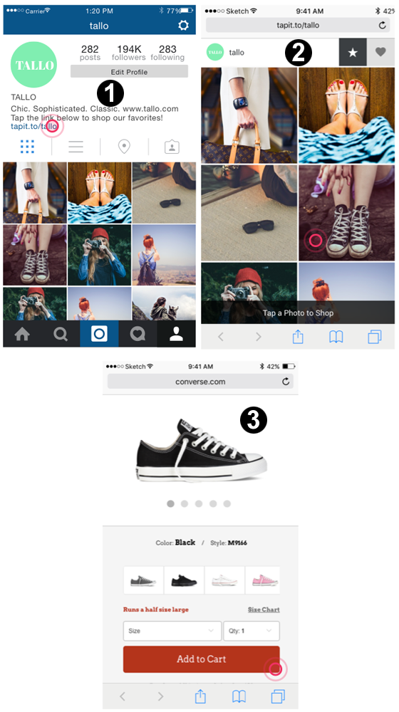 instagram shop and viraltag